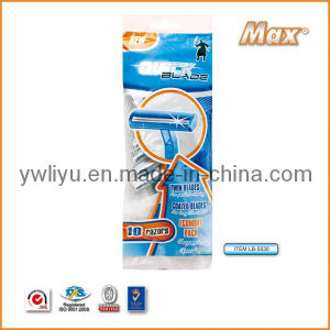 Twin Stainless Steel Blade Disposable Shaving Razor (LB-5030) pictures & photos