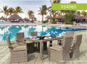 High Quality Constructure Rattan Furniture/Rattan Dining Set pictures & photos