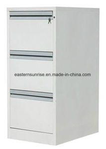 Powder Coating Three Drawer Storage Filing Metal Steel Cabinet pictures & photos