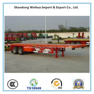 2 Axles Flatbed Container Trailer From China Manufacturer pictures & photos