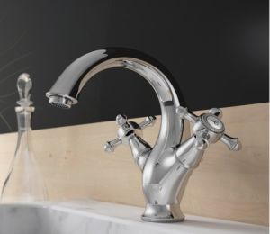 Luxury Two Handles Washbasin Sink Mixer (DH39) pictures & photos