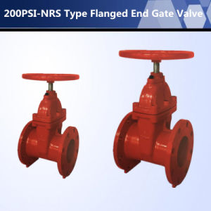 UL FM Approved 200psi Nrs Flanged End Gate Valve pictures & photos