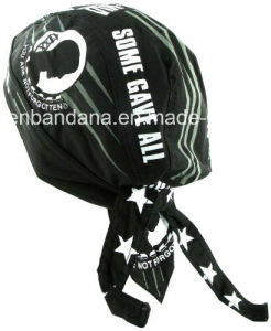 OEM Produce Customized Logo Printed Promotional Black Cotton Biker Skull Hat Caps pictures & photos