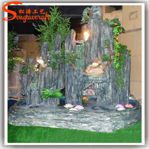 2015 New Design Artificial Wedding Decoration Rock Water Fountain pictures & photos
