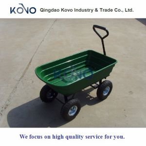 75L Dumper Garden Cart with Plastic Tray pictures & photos