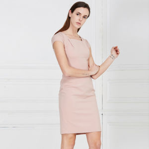 Cotton Womens Pink Color Sleeveless Dress pictures & photos