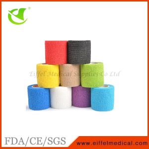 Colorful Cohesive Medical Self-Adhesive Sport Bandage pictures & photos
