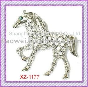 Hot Sale Fashion Horse Brooch (XZ-1177)