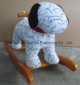 New Design Stuffed Rocking Animal-Spotty Dog Rocker pictures & photos