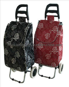 Folding Shopping Trolley Luggage Bag with 2 Wheels pictures & photos