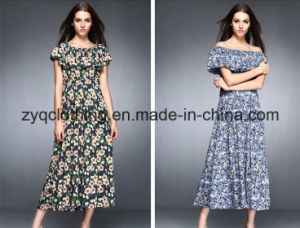Women′s Hot Maxi Dress, Floral Strapless Dress in 2015 pictures & photos