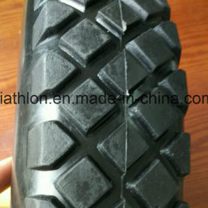 16X4.00-8 Wheelbarrow PU Foam Tires with Five Star Wheel pictures & photos