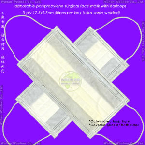 Disposable Polypropylene Nonwoven Earloop Surgical Face Mask pictures & photos