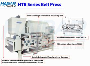 Tow Stage Type Rotary Drum Thickening Belt Filter Press