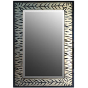 Antique Silver Foiled Picture Design Rectangle Wall Mirror Frame (LH-423626) pictures & photos