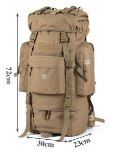 Camouflage 65L Hiker Backpack Extra Large Hiking/Camping Luggage Rucksack pictures & photos