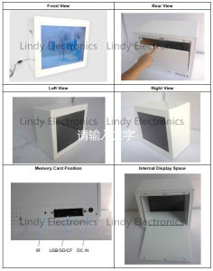 19inch Transparent LCD Ad Player Transparent LCD Showcase-Ad Player