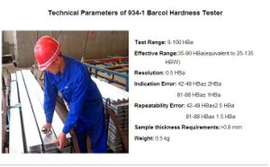 Barcol Impressor Hardness Tester (934-1) /Barcol Impressor/Hardness Tester/Metal Hardness Test/Meter/Testing Equipment/Barcol Durometer/Barcol Sclerometer pictures & photos