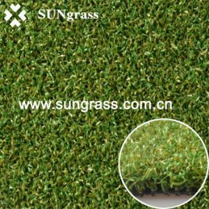 High Densty Sports Synthetic Grass for Golf Field (PP015DS) pictures & photos