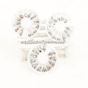 Wholesale Art Nail Beauty Rhinestone Silver Gem Decoration Wheel (D27)