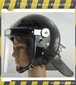 PC and ABS Material Police Riot Helmet with Visor and Professional Military Anti Riot Helmet