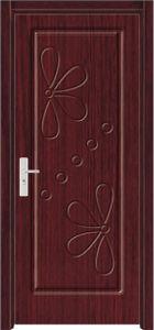 Coated Interior Room PVC Door (WX-PW-117) pictures & photos