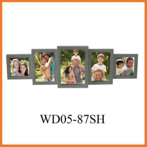 Grey 5 Opening Wooden Wall Collage Picture Frame, Best Gift (WD05-87SH) pictures & photos
