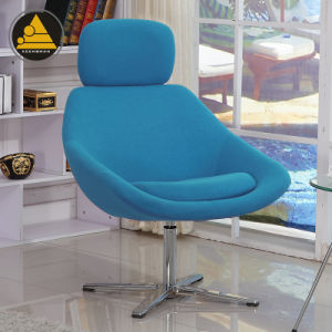 Fabric Swivel Designer Lounge Chair with Aluminum Base pictures & photos