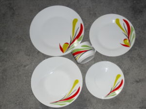 20PCS Porcelain Dinnerware Set with Decal Printing (WSY108D)
