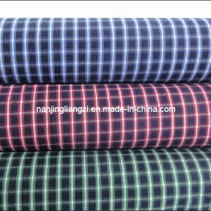 Cotton Yarn Dyed 100/2 Carbon Peached Check Fabric (LZ5011) pictures & photos
