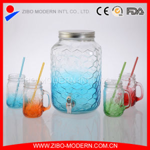 Wholesale Colored Glass Drinking Beverage Dispenser with Rooster Design pictures & photos