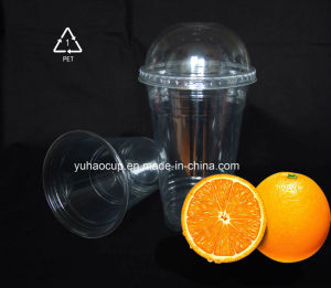 Custom Take Away Clear Printing Pet Juice Cup with Lids pictures & photos
