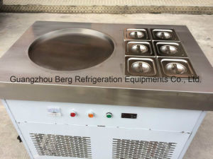 High Efficiency One Round Pan 6 Trays Fried Ice Cream Roll Machine pictures & photos