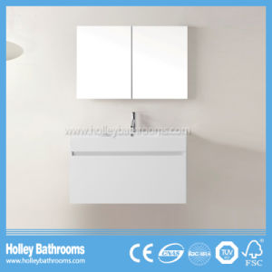 High Gloss Painting Bathroom Vanity with Horse Metal Drawer and Mirror Cabinet (BF369D)