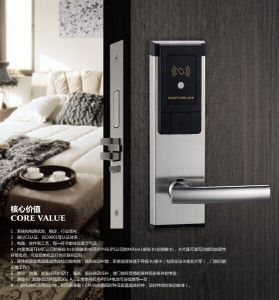 SUS304 Hotel RF Card Lock with LED and Sound with Competitive Price pictures & photos