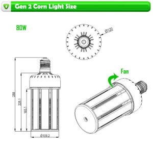 360 Degree Corn Type 80W High Bay LED Lights pictures & photos