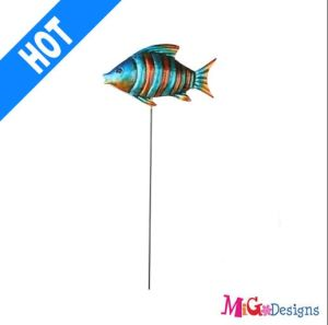Christmas Charming Fish Metal Garden Stake Ocean Collection Stake pictures & photos