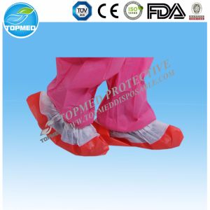 Disposable Nonwoven Shoe Cover with PP+CPE for Single-Use pictures & photos