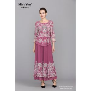 Miss You Ailinna 801842 Ladies Ethnic Long Sleeve Maxi Dress pictures & photos