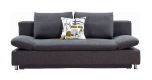 Fabric Sofa Cum Bed with Storage and Changeable Armrests pictures & photos