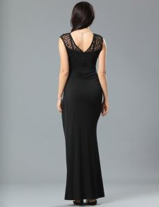 Black New Arrivals Super Customized OEM Services Wholesale Sequined Long Prom Dresses pictures & photos