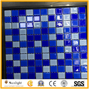 Mosaic Tiles Dark Blue Glass Mosaic for Swimming Pool Building Material pictures & photos