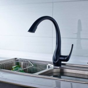 Soild Brass Pull out Black Kitchen Faucet Sink Tap pictures & photos
