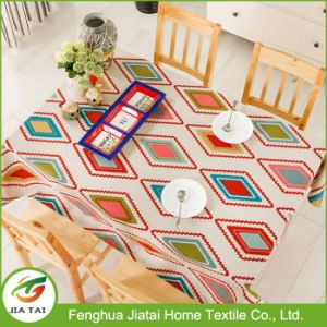 Cuatom Home Contemporary Polyester Pattern Printed Dining Tablecloth pictures & photos