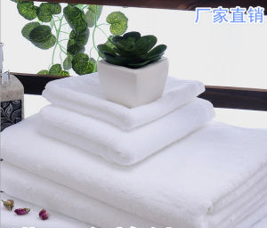 100% Cotton Embroidery Plain Dyed Hotel Towel Set Textile pictures & photos