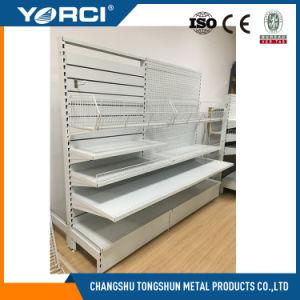Metal Slatwall Back Panel Shelf for Hooks pictures & photos