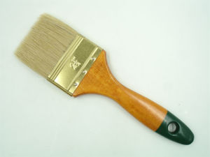 Decorative Wooden Handle with Pure White Bristle Brush pictures & photos