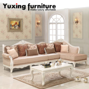 Sectional Sofa Classical Upholstery Fabric Couch with Chaise Lounge pictures & photos