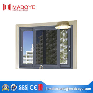 Commercial Price Aluminium Sliding Window with Mesh From Chinese Supplier pictures & photos