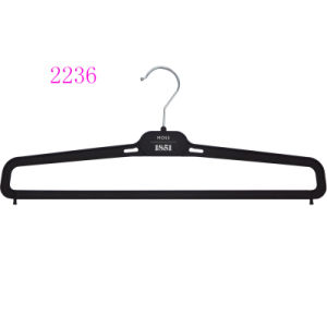 Cheap Plastic Pant Hangers with Locking Bar pictures & photos